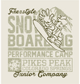 Snowboard Camp vector image vector image