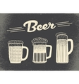 Beer set Vintage sketch and old paper texture vector image