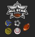 all star game logo emblem vector image