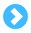 Arrow sign direction icon circle button flat vector image
