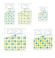 Bedding and Linen Set vector image