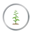 Corn icon cartoon Single plant icon from the big vector image