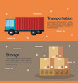 Delivery service business icons vector image