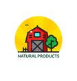 farm logo vector image