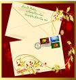 holiday envelope vector image