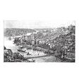 Oporto Portugal vintage engraving vector image
