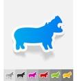 realistic design element hippopotamus vector image