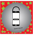 smartphone unlocked with password vector image