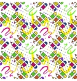 Seamless school pattern with pencils vector image