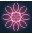 Abstract Neon Flower vector image