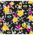Cute monsters cats and money seamless pattern vector image vector image