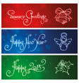 Three New Year Christmas Banners vector image