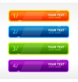 colorful text button vector image vector image