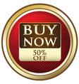 Buy Now Advertisement Label vector image