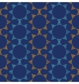 Abstract textile stars on dark geometric seamless vector image