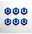 Abstract Horseshoe Logo Design Template vector image vector image