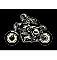 man ride a cafe racer vector image vector image