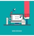 modern thin line flat design vector image vector image