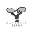 handmade pizza with hand of chef vector image