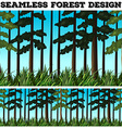 Seamless background design with forest vector image vector image