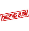 Christmas Island red square grunge stamp on white vector image