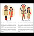 alaska and north america people wearing cothes vector image