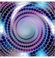 Blue shining spiral vector image