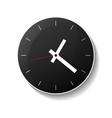 classic round black wall clock icon vector image