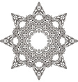 flower mandala with hand drawn floral henna vector image