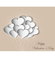 hearts on Valentine Day with butterflies vector image