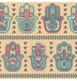 Indian hand drawn hamsa seamless pattern vector image