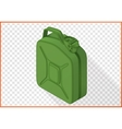 jerrycan 3d flat isometric vector image