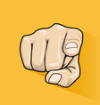 male hand pointing finger at you vector image