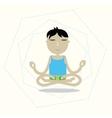 man sitting cross-legged meditating vector image