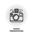 Photo Presentation Line Icon vector image