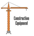 the tower crane vector image