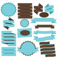 Tiffany Blue and Brown Banner and Ribbons vector image