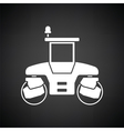 Icon of road roller vector image