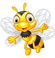 Cartoon cute bees vector image vector image