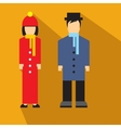 Man and woman flat icon vector image