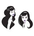 beautiful woman icon vector image