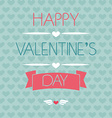 Card for Valentines Day Typography vector image