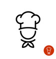 chef in a cooking hat outline logo vector image