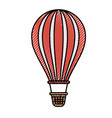 colored crayon silhouette of hot air balloon vector image