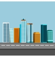 flat of city urban landscape vector image