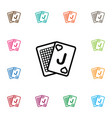 isolated deck icon game element can be vector image