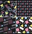 memphis pattern retro set geometric design vector image