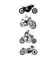 moto bike icon set cafe racer vector image