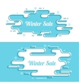Set of festive winter banner vector image