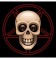 Skull and pentagram vector image